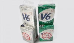Krimpsleeve aangebracht op kauwgomverpakkingen
